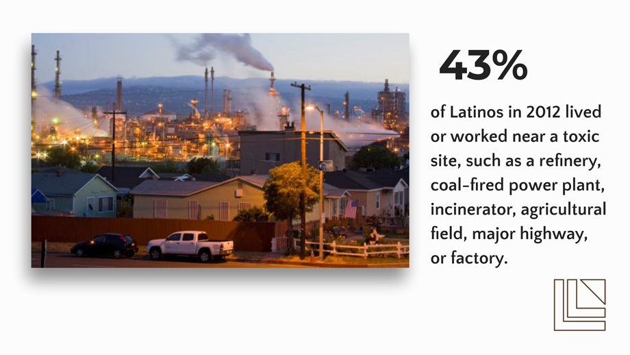factories contaminating the air and located behind a predominate Latino neighborhood